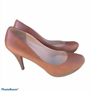 Marc Fisher Tan Platform Heels Size 8.5